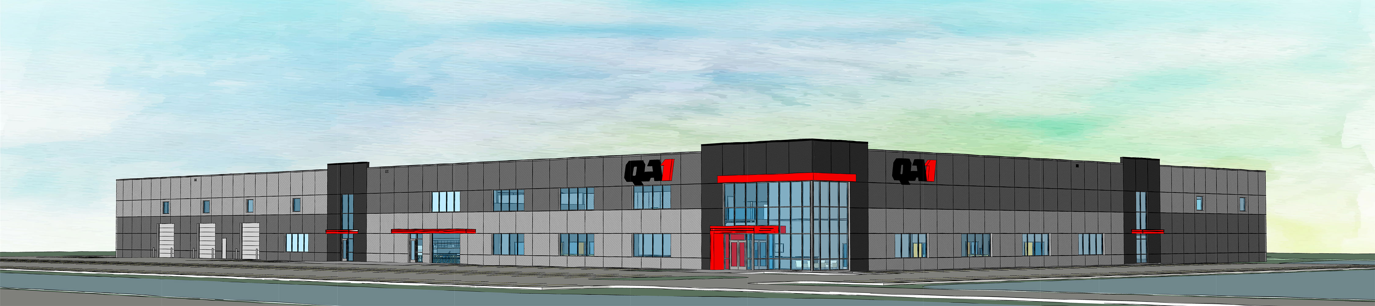 A rendering of what the new QA1 building may look like when complete
